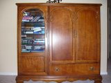 Reduced ~Solid wood entertainment center in Kingwood, Texas