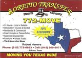 LLORETTO TRANSFER MOVING COMPANY 915-269-5071 in Fort Bliss, Texas