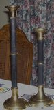 Two huge  candle holders in black and brass in Alamogordo, New Mexico