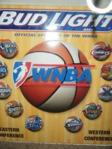 BUD LIGHT WNBA METAL SIGN in Baytown, Texas