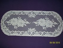 """new 36"""" heavy lace ivory rose pattern tablerunners in Goldsboro, North Carolina"""