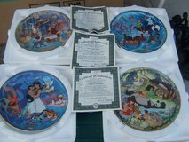 4 disney collectable plates from branford exchange in Wilmington, North Carolina